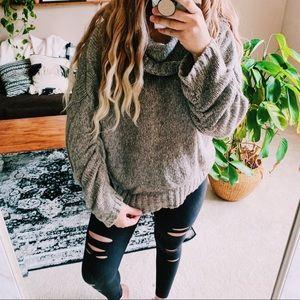Nine West cozy ruched sleeve oversized sweater p